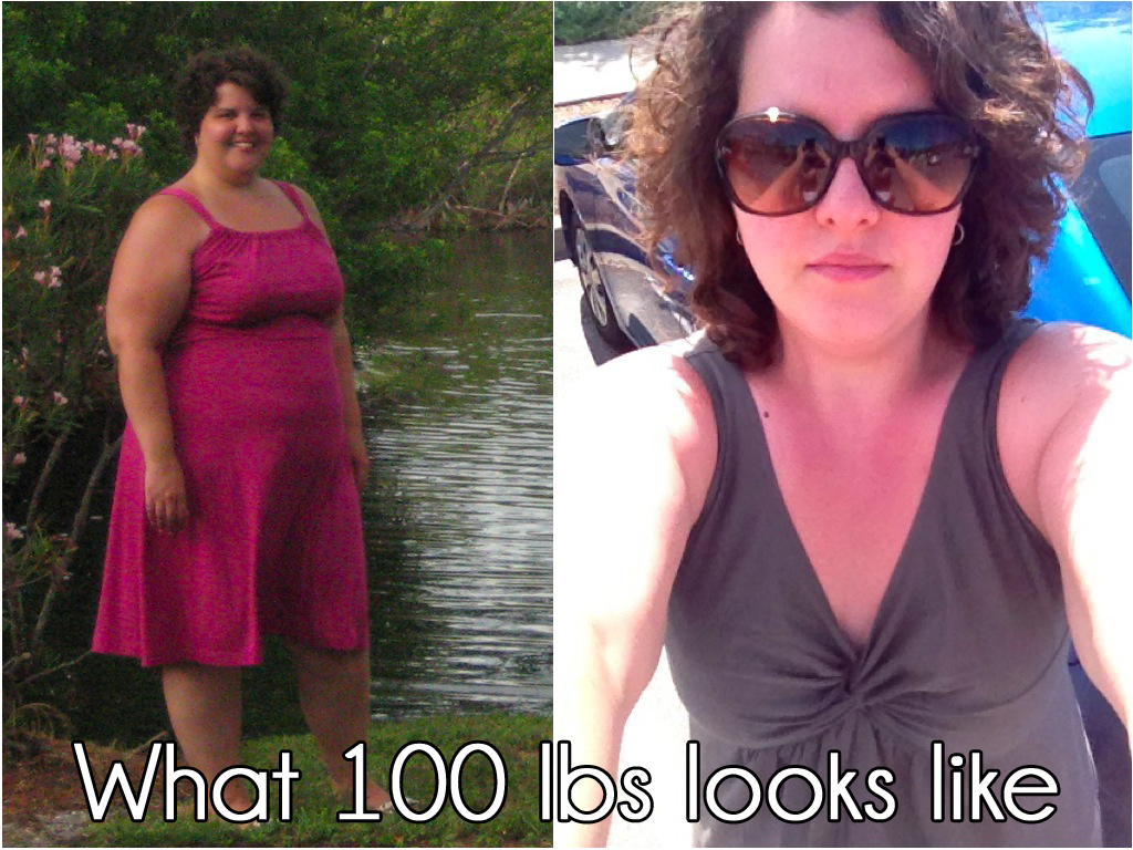 What 100 lbs looks like. Before and After | Christine at Salt & Twine