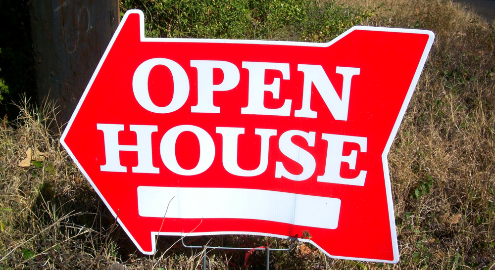 preparing your home for sale - open house