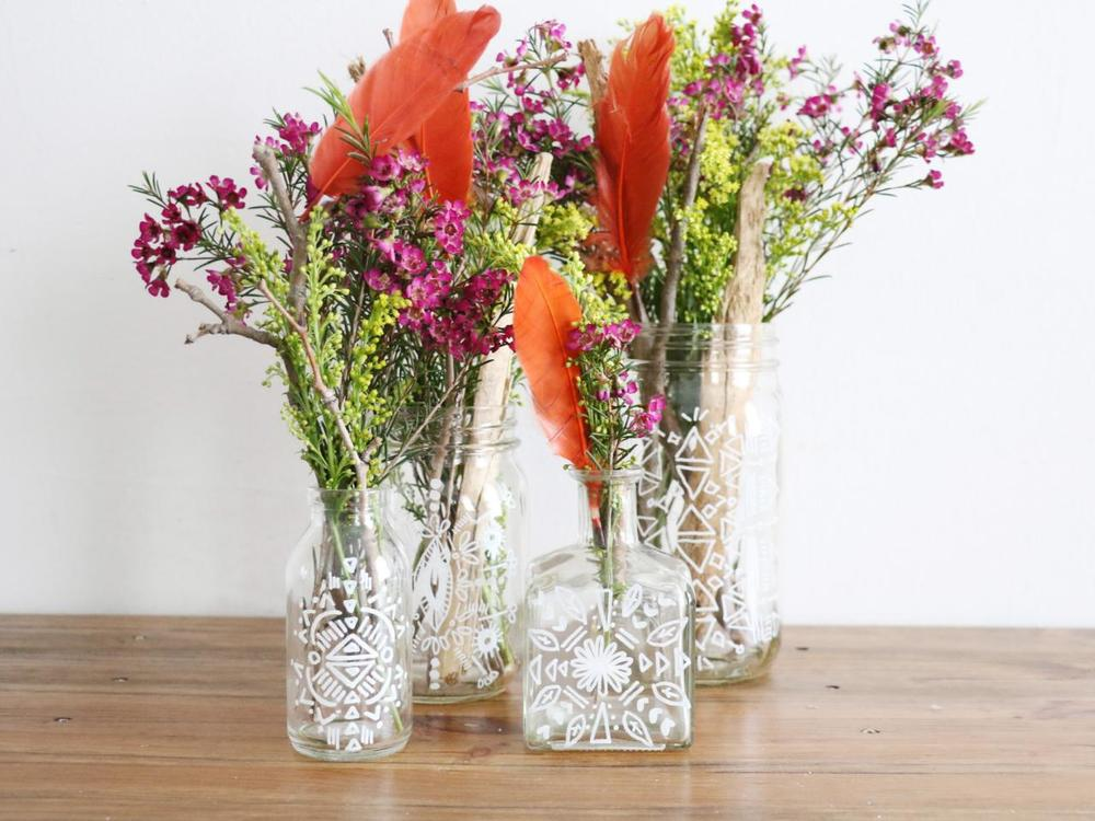 Fun Summer Projects - Boho Vases