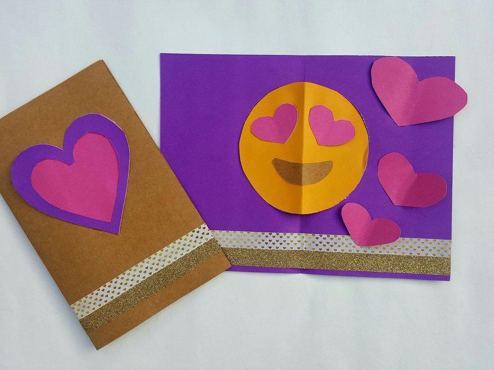 Tarjeta de San Valentn Popup con Emoji Sirena Patterns
