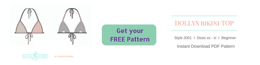 free diy bikini swimwear patter