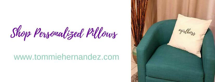 shop pesonalized pillows name #girlboss