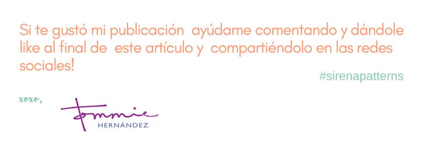 sirena patterns blog manualidades español
