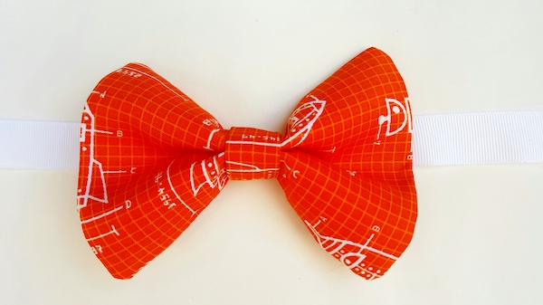 d.i.y. bow tie how to make dad and kid