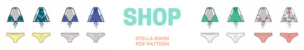 pdf bikini sewing pattern