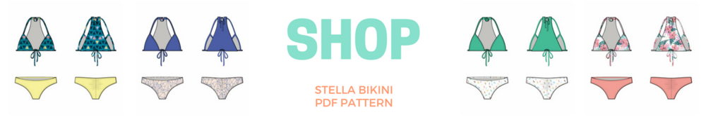 pdf bikini sewing pattern