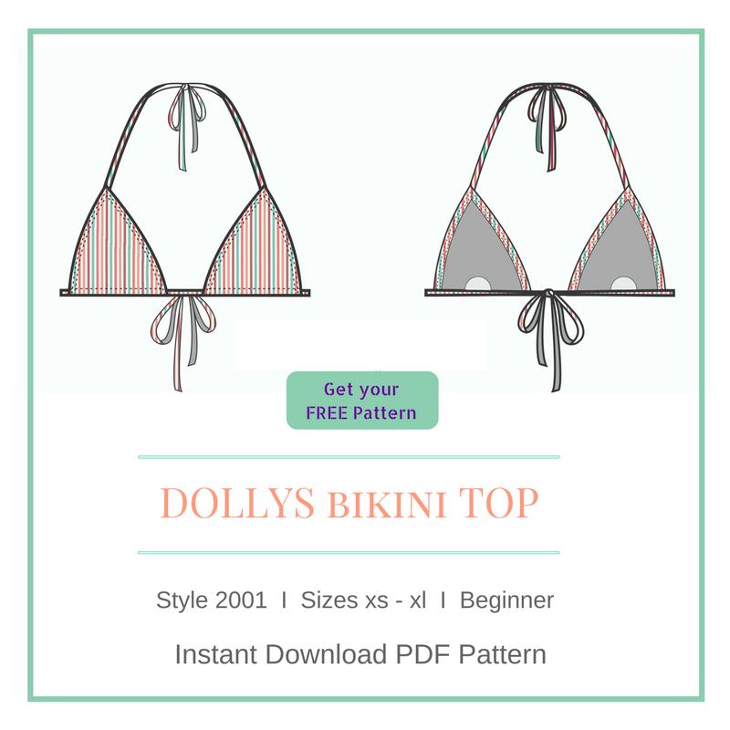 free bikini pdf sewing pattern diy bikini how to make spandex sew