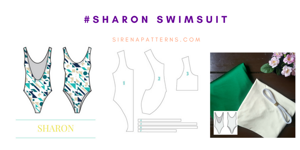 #sharonswimsuit how to make a one piece swimwear swimsuit  sirena patterns