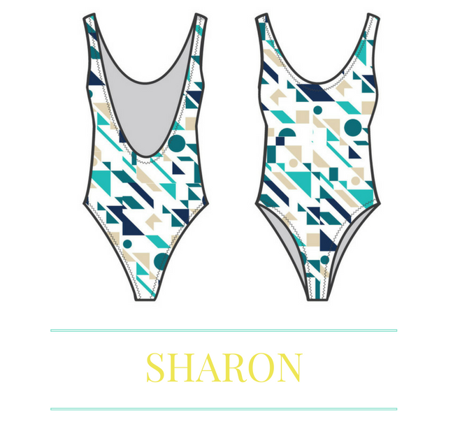 4737122b85ef1 How to Sew a One Piece 80's Inspired Swimsuit in less than an Hour — Sirena  Patterns