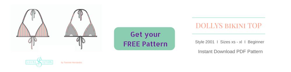 free bikini triangle top pdf sewing pattern how to make a bikini swimwear swimsuit