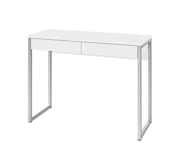 wood desk sewing metal legs