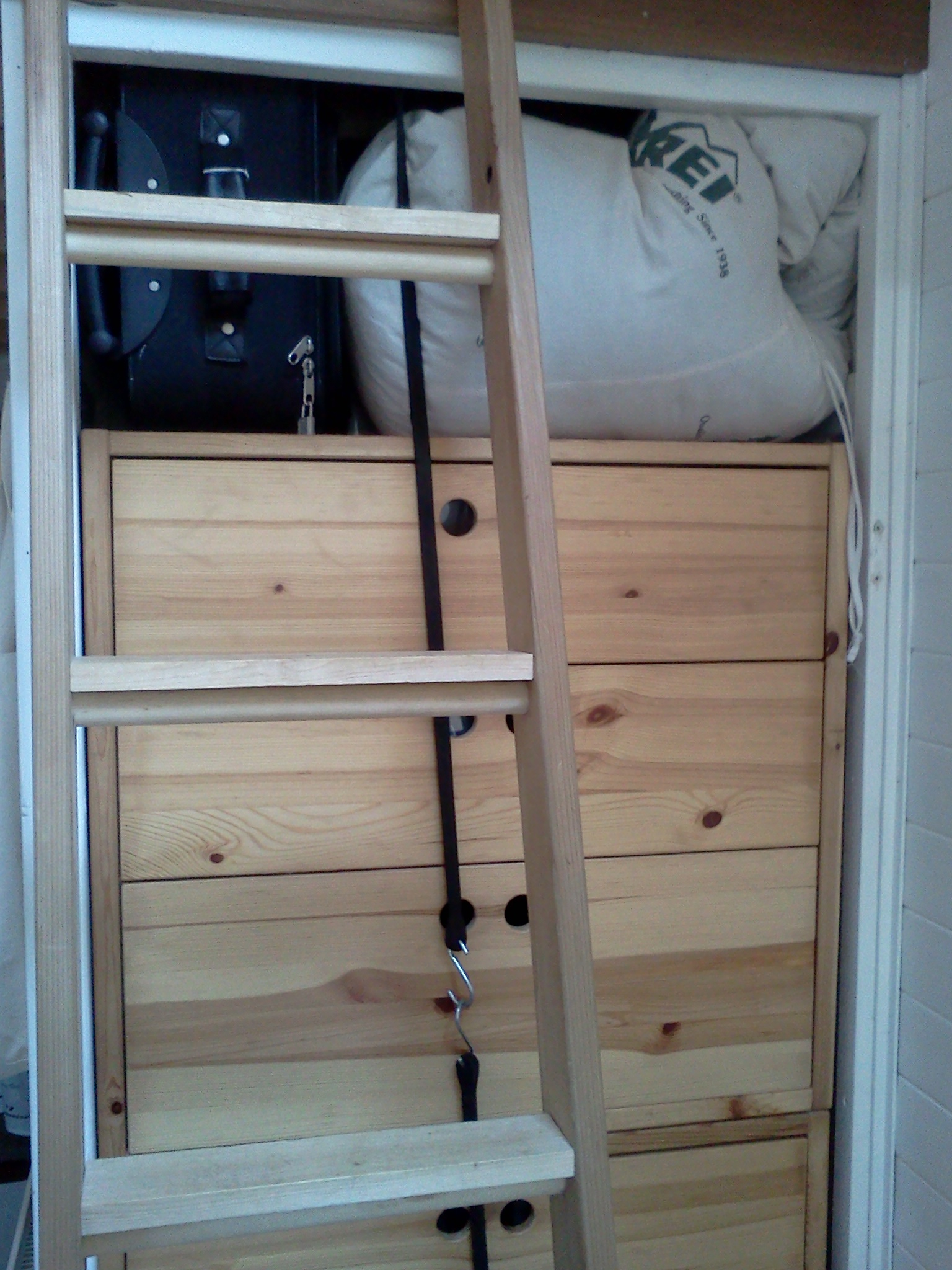 tuck breakables into clothes in dresser drawers, bungee closed