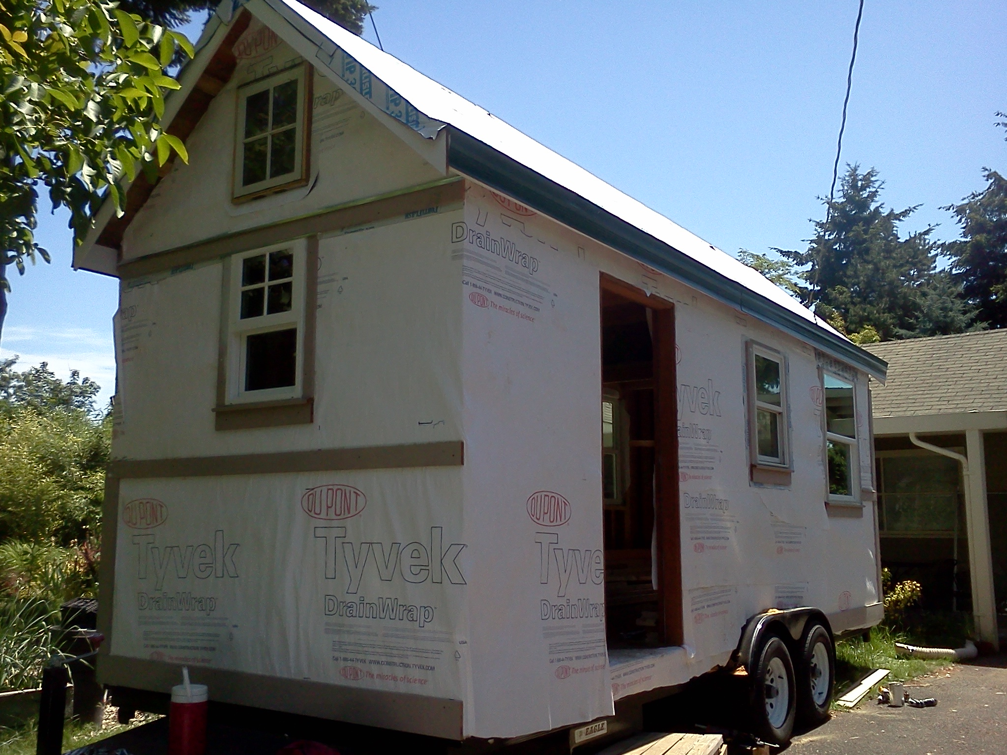 I'm going to help finish this tiny house!