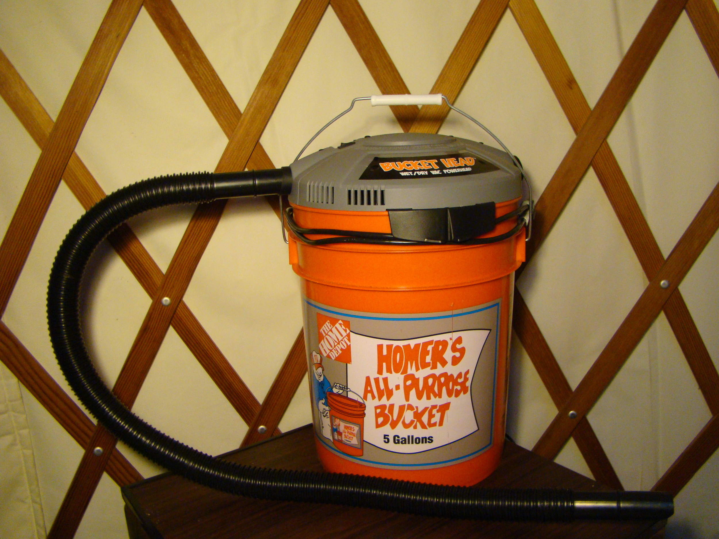 my Bucket Head vacuum