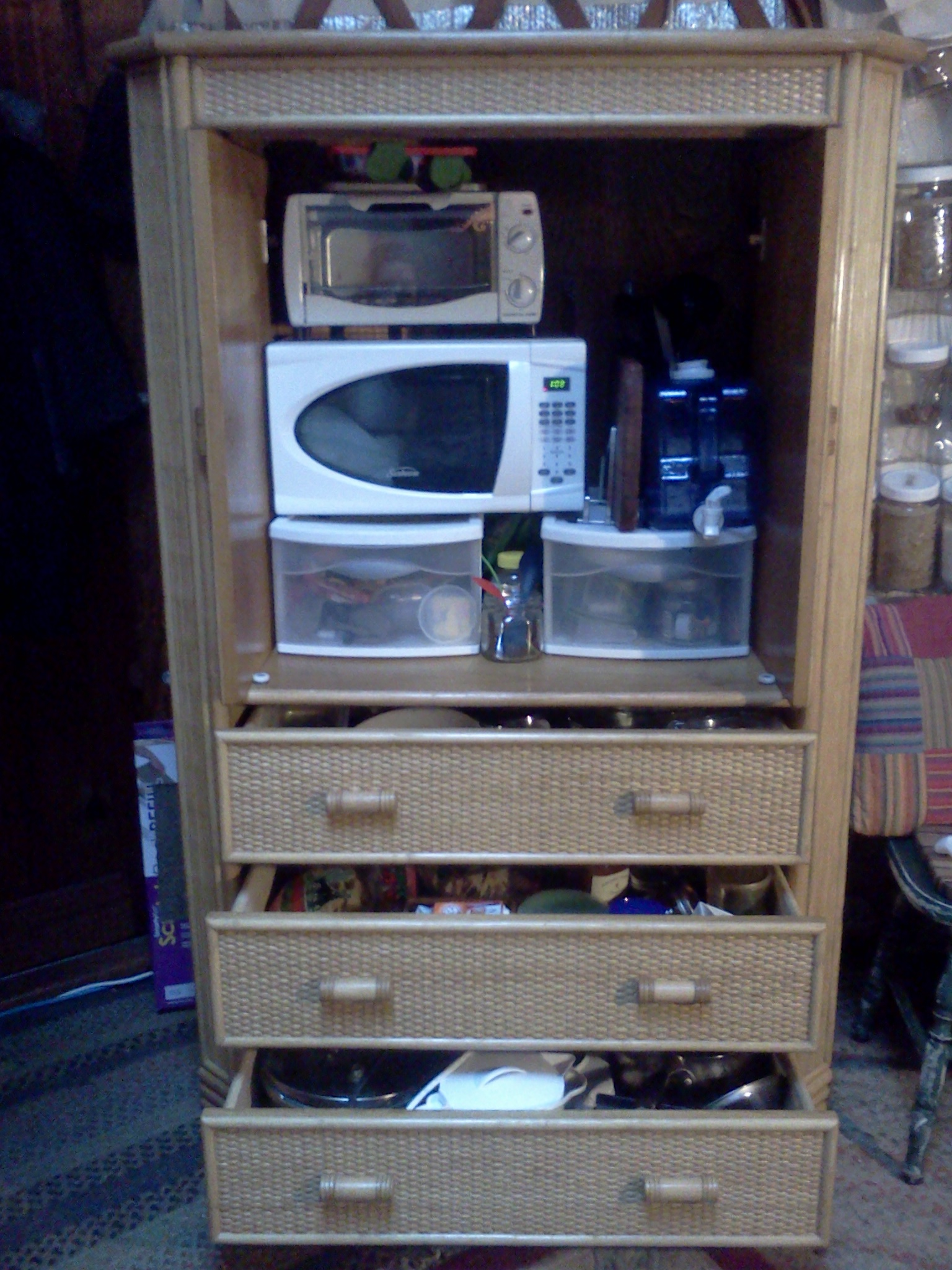 my kitchen in a cupboard