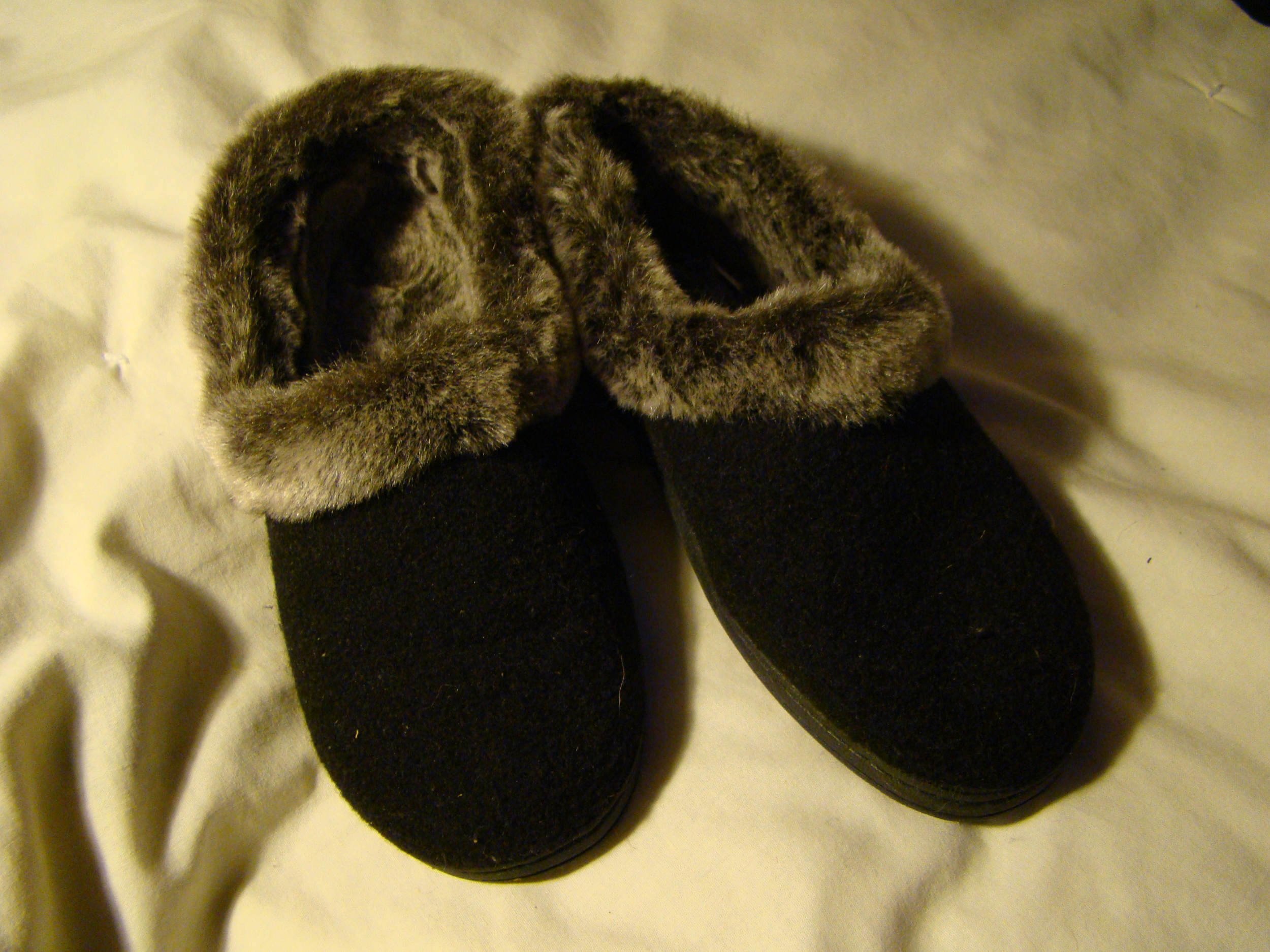 my new fuzzy slippers