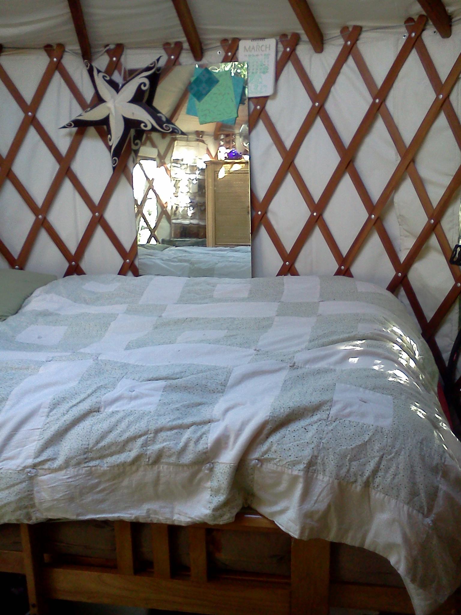 sunlight dappling my bed