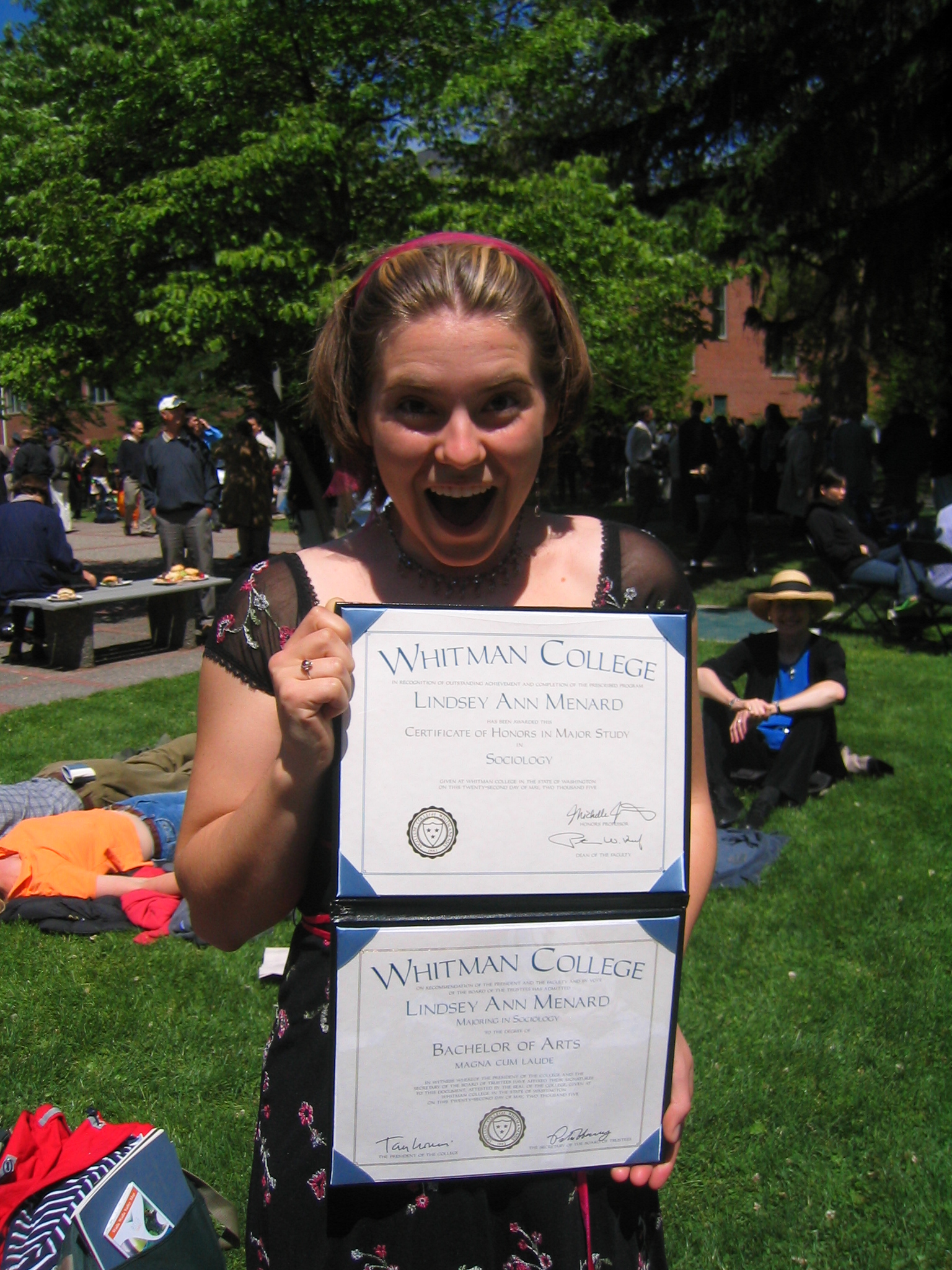 graduating from Whitman was so exciting