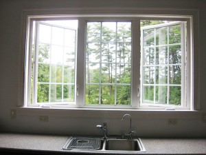 I want a triple window over my kitchen sink, but not vinyl!