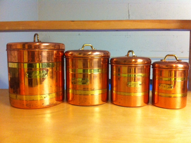 distracted by shiny things: my copper canisters