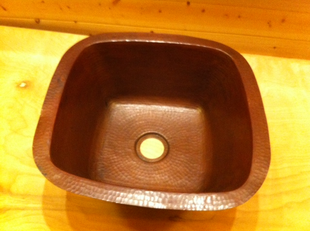 tiny house copper sink