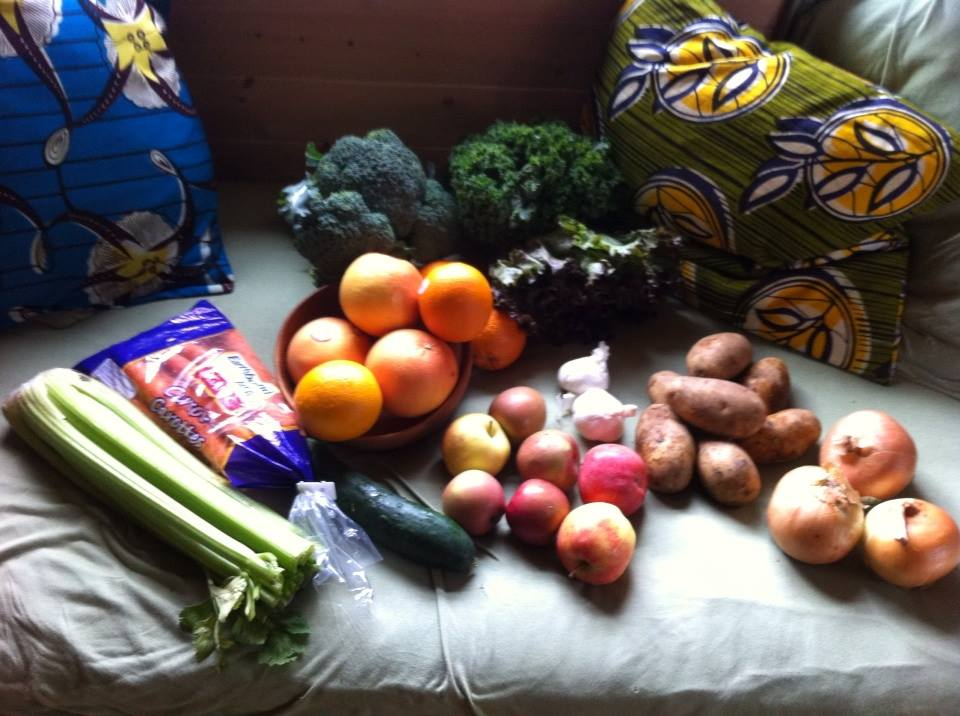 the contents of last week's Food Box