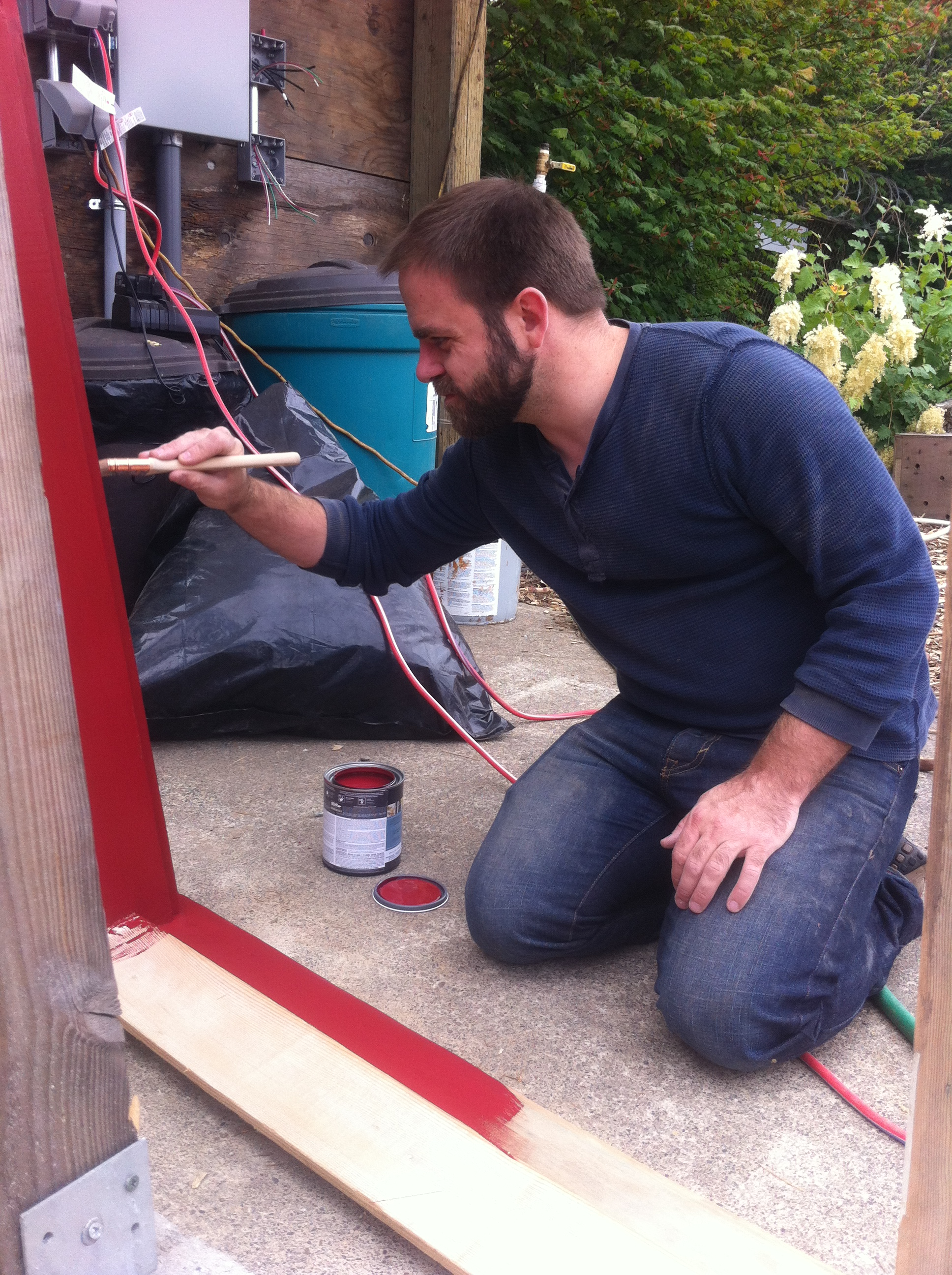 Matthew Painting Door Jamb