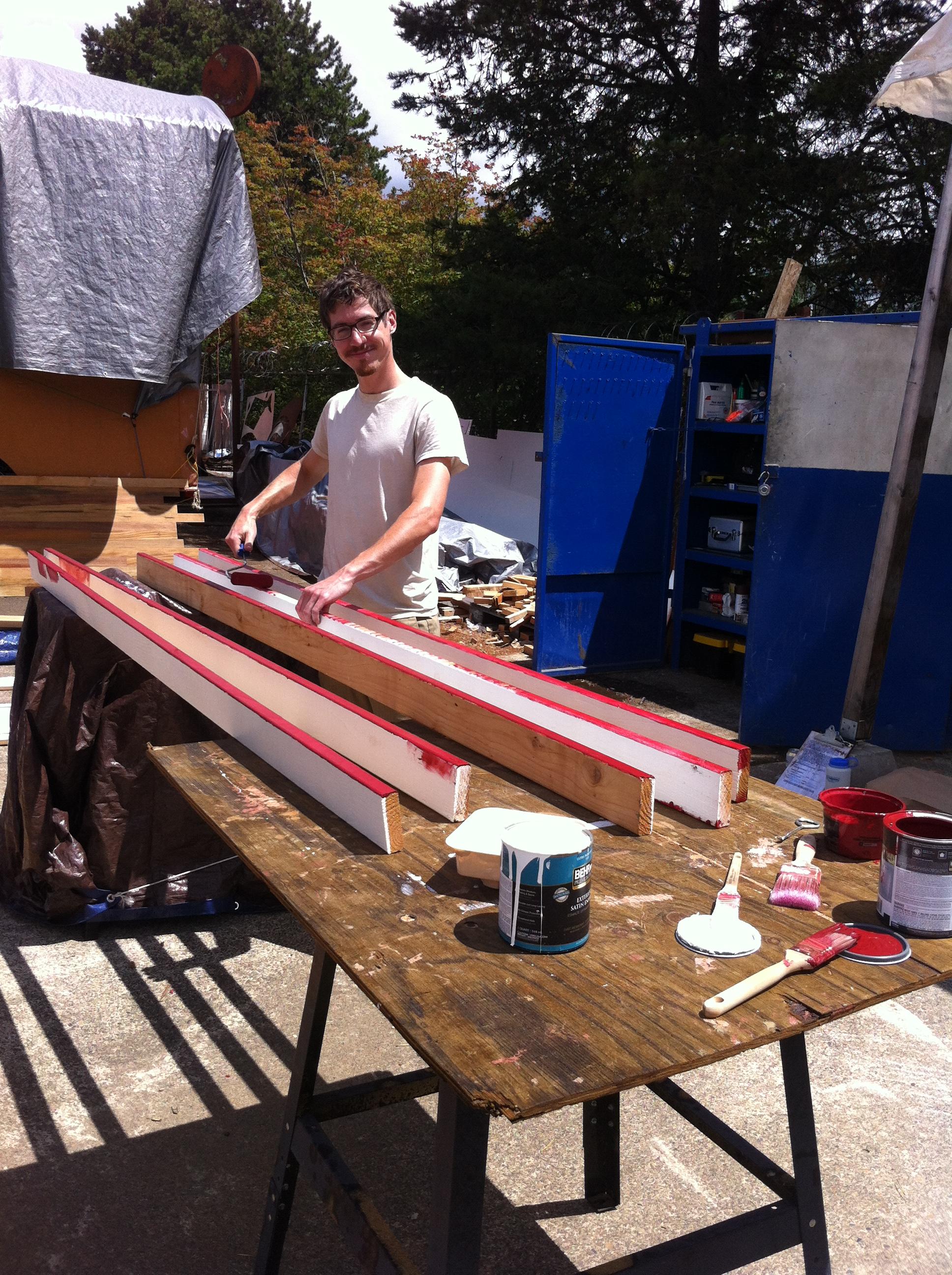 Chris painting trim