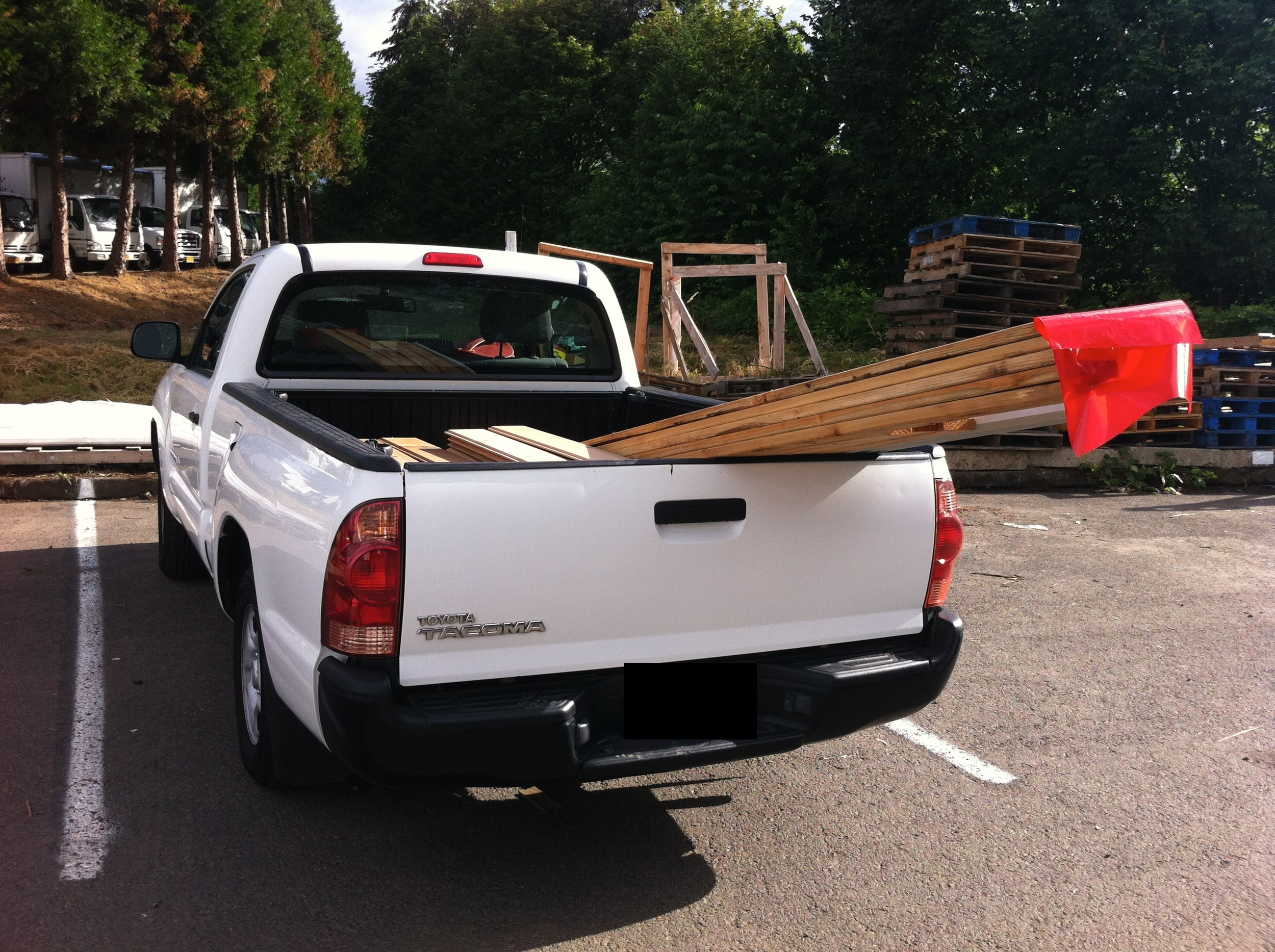 my getaround rental truck and my cedar siding and trim