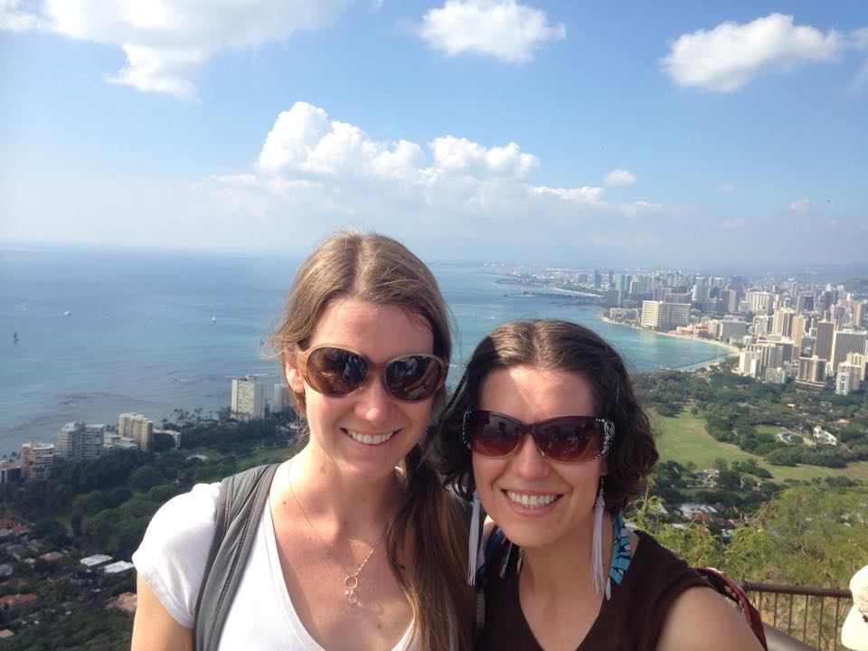 My sis and I hiked to the top of Diamond Head one beautiful afternoon