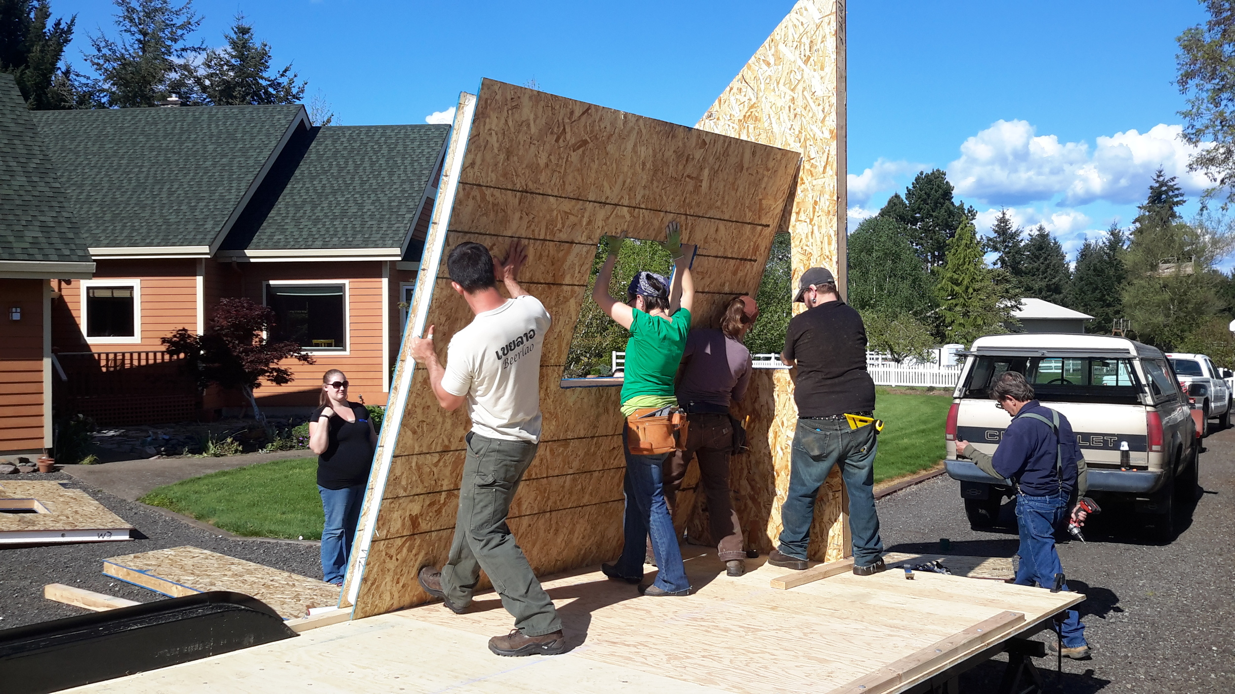 SIPs Wall Raising during a Build Blitz in Spring 2015