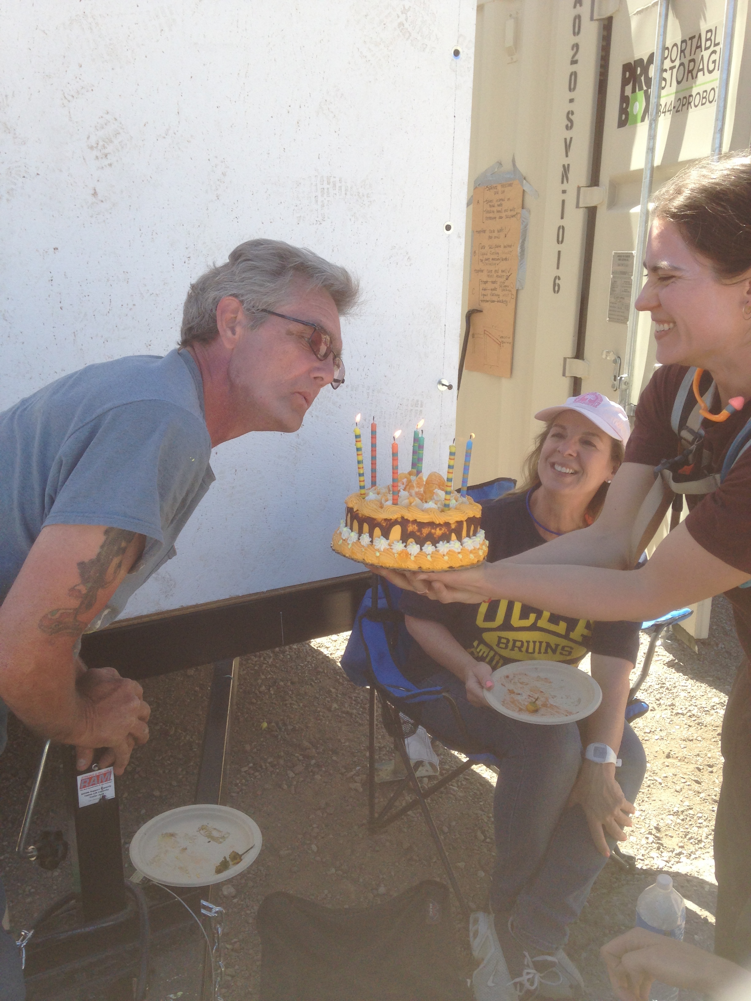 Richard blowing out the candles on his bday cake!