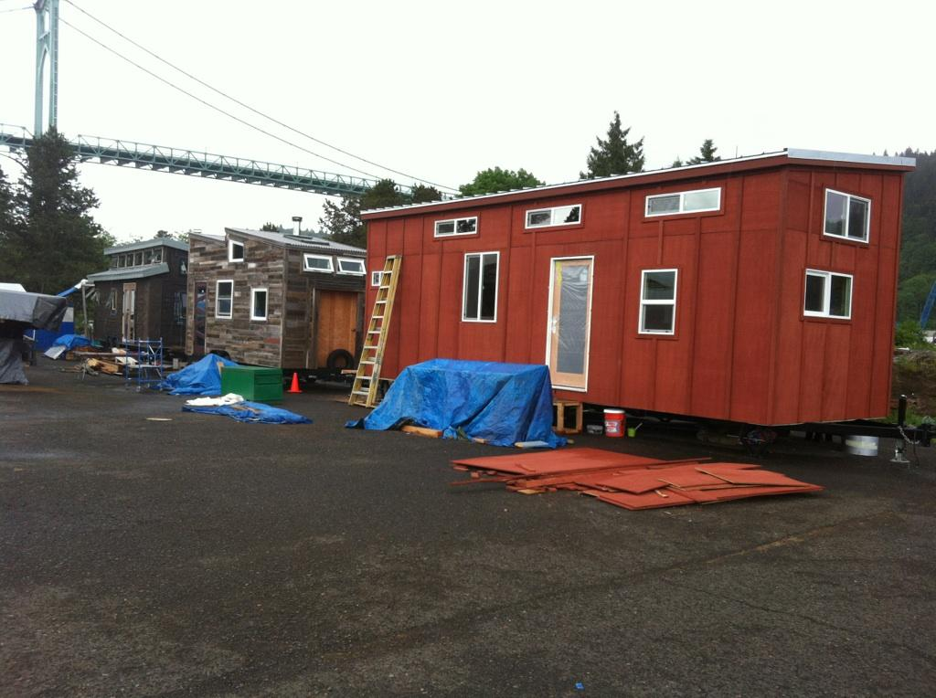 Tiny Houses under construction at Green Anchors