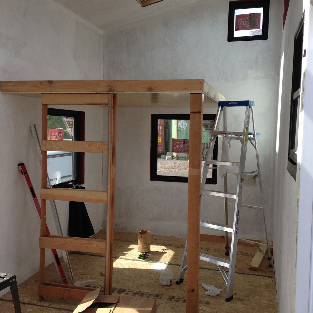 Studio Pocket Door Frame Installed