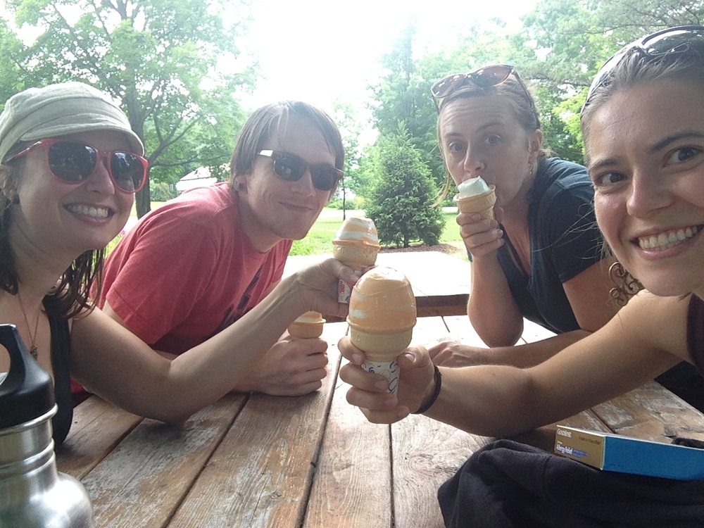Enjoying orangecicle creemees with Vermont friends Katie, Eli, and Casey outside the Jericho Country Store last weekend was just one of the many hygge moments of my birthday week!