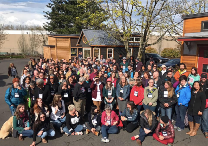 Christian Parsons of Tiny House Expedition snapped this shot of the Tiny House Conference.