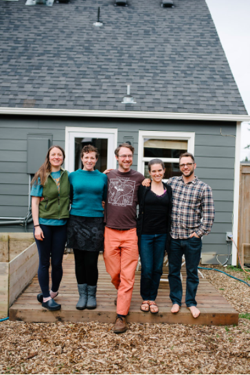Kristina of  Kristina Lynn Photography  snapped this pic of the Going Places crew earlier this spring. We're honing in on our community decision making process as we settle in.