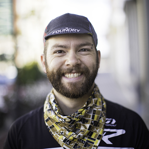 Brad CO-OWNER Brad was on the University of Michigan Cycling Team, completed an Ironman in Switzerland, and now regularly finds himself up to his elbows in bike grease at the shop. His current ride is the Focus Mares AX built up for the dirt roads.