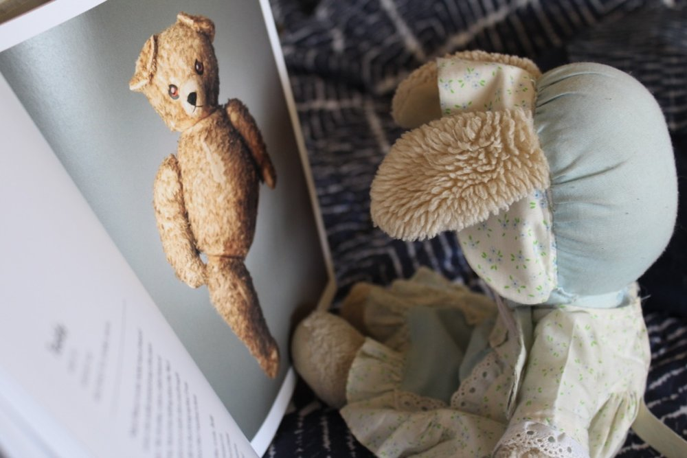 Bunny reads the story of Teddy, the one-legged bear.