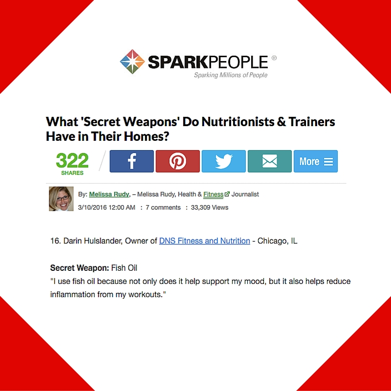 March 10, 2016 - Sparkpeople placement for Darin Hulslander