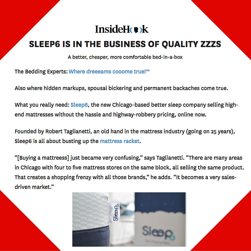 January 21, 2016 - InsideHook Placement for Sleep6