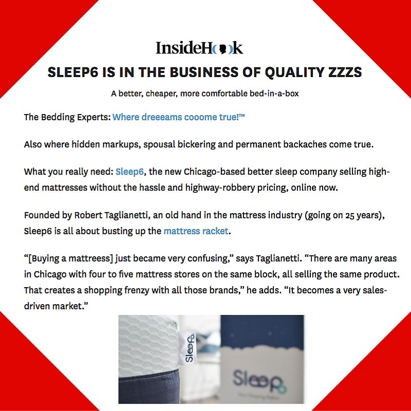 January 21, 2016 - InsideHook Placement for Sleep6
