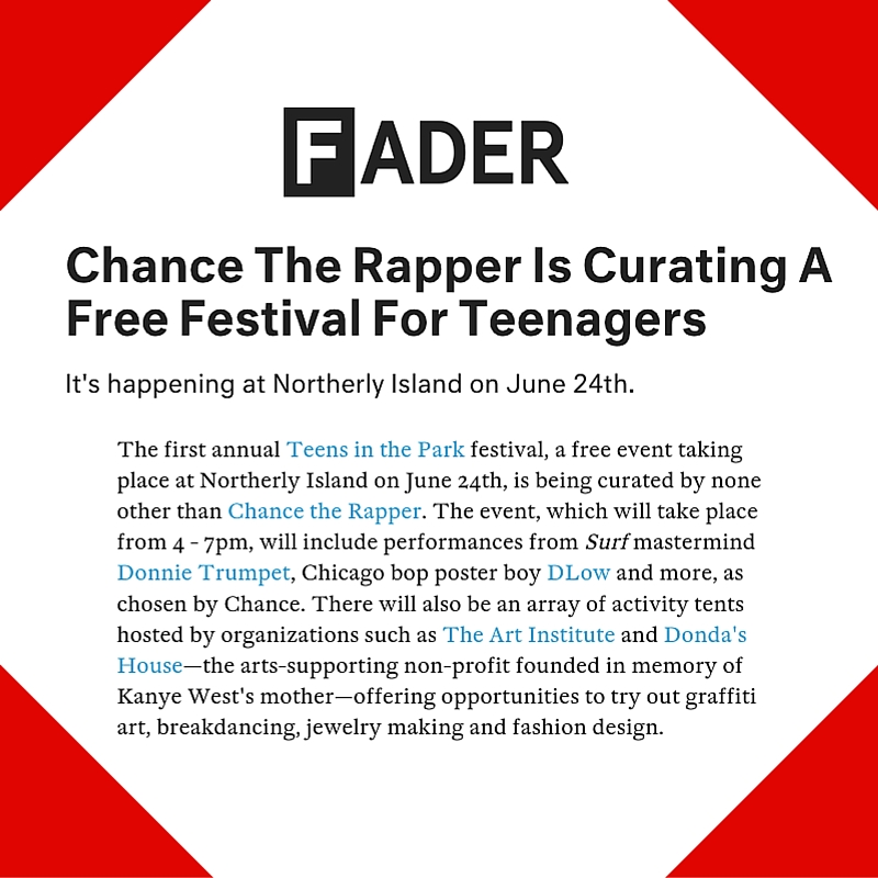 June 10, 2016 - Fader Placement for Teens in the Park