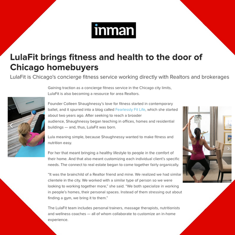 May 26, 2016 - Inman Placement for LulaFit