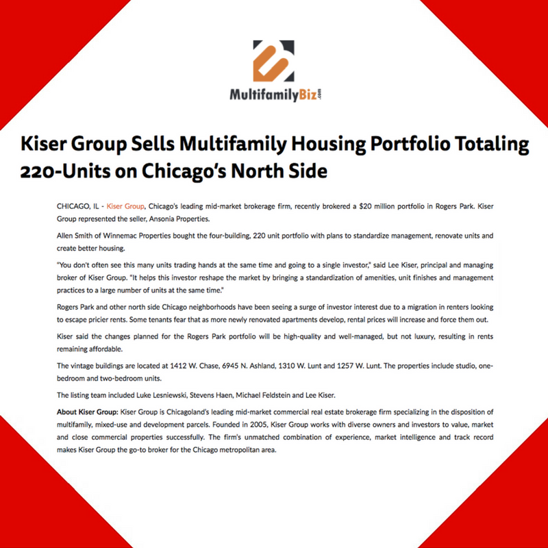 December 20, 2016 - Placement for Kiser Group