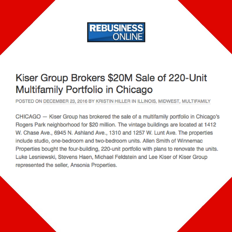 December 23, 2016 - Placement for Kiser Group