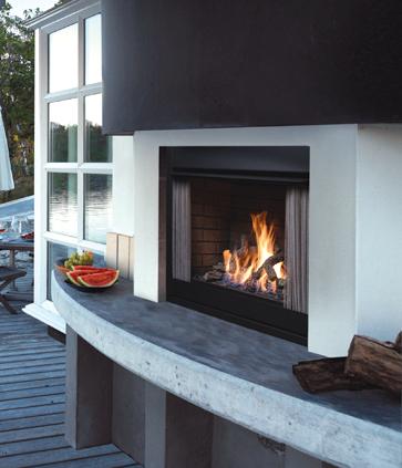 Kingsman OPF42N Outdoor Fireplace