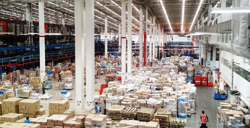 Centro de distribución de mercancía
