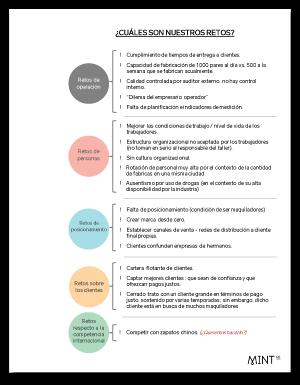 Reporte de taller: Clasificación de los retos de la compañía