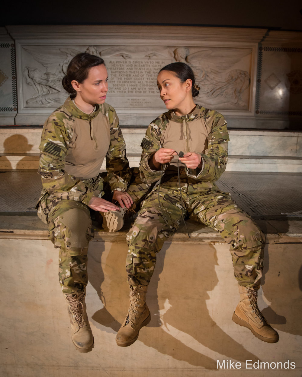 Emma C. Walton and Rebecca Hirota in Bullet Catchers